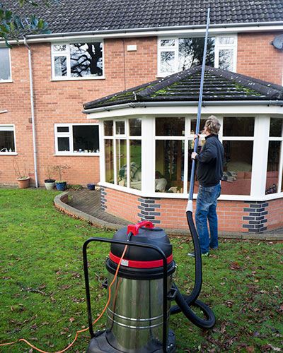 Domestic gutter cleaning in Wrexham